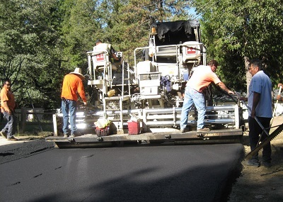 Road being Paved