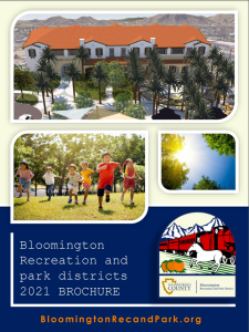 Bloomington Rec and Park Districts 2021 Brochure Image